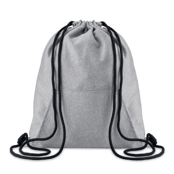 Fleecový batoh se šňůrkami Sweatstring - grey