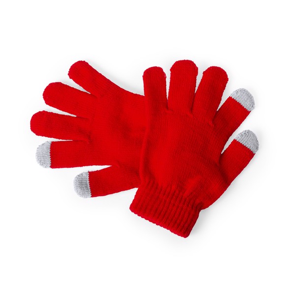 Gant Tactile Pigun - Rouge