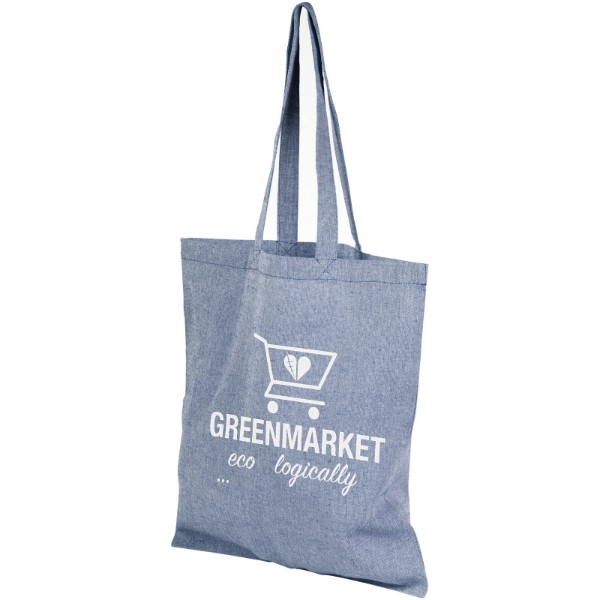 Pheebs 150 g/m² recycled tote bag - Heather blue