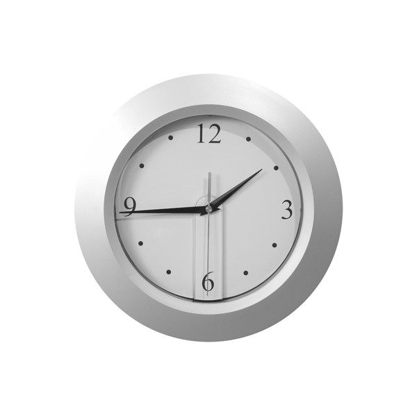 Wall Clock Brattain - Silver / Black