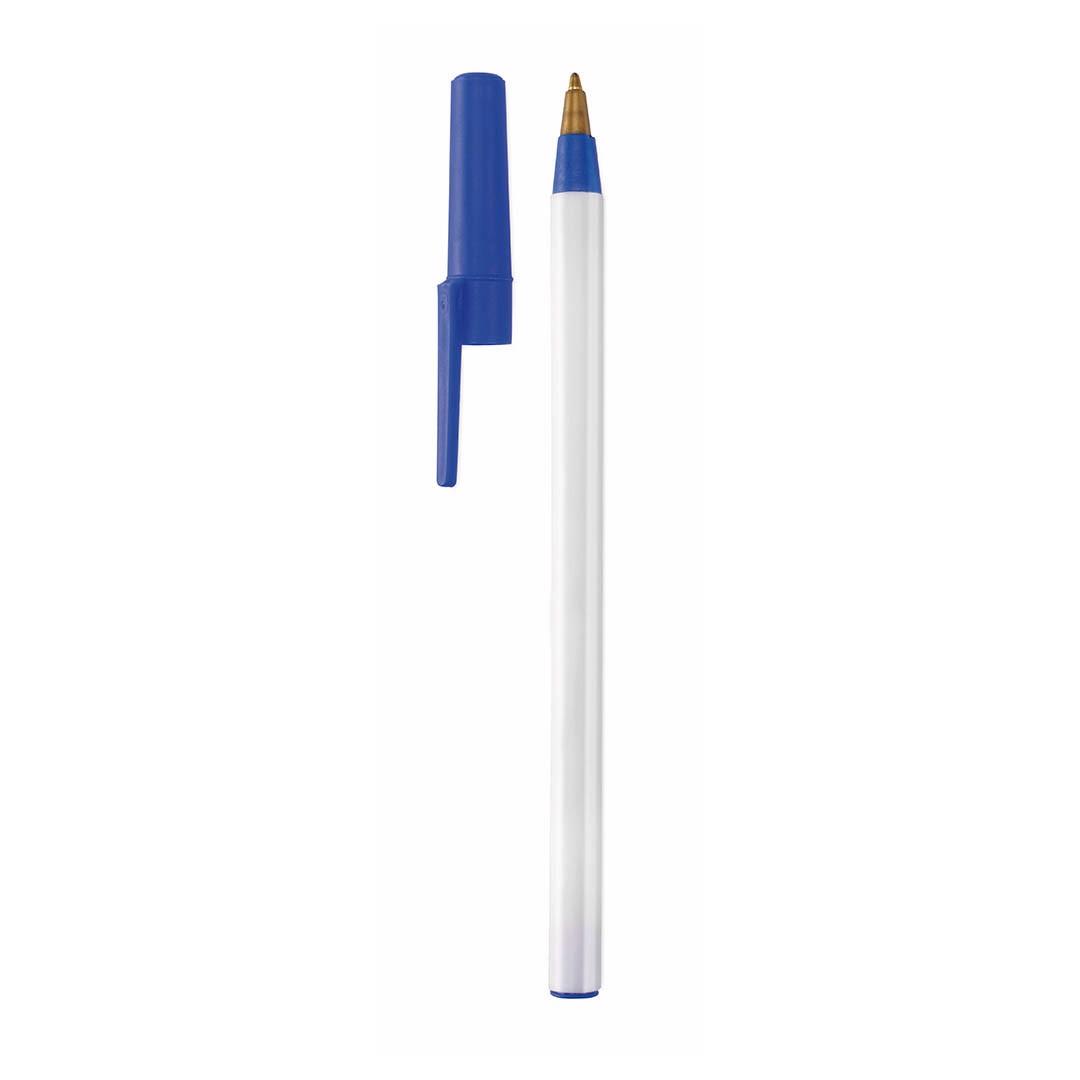 Esferográfica Elky - Branco / Azul
