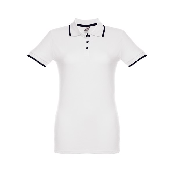 THC ROME WOMEN WH. Women's slim fit polo shirt - White / XXL