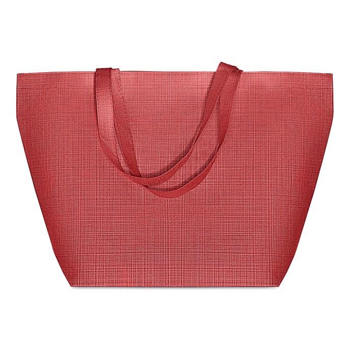 2 tone non woven shopping bag Duo Bag - Red