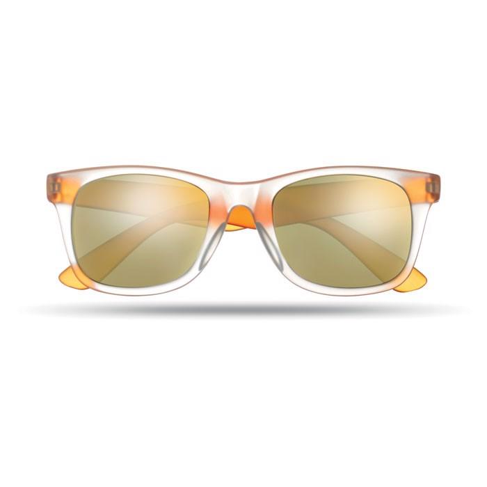 Lustrzane okulary przeciwsłon America Touch - pomarańczowy