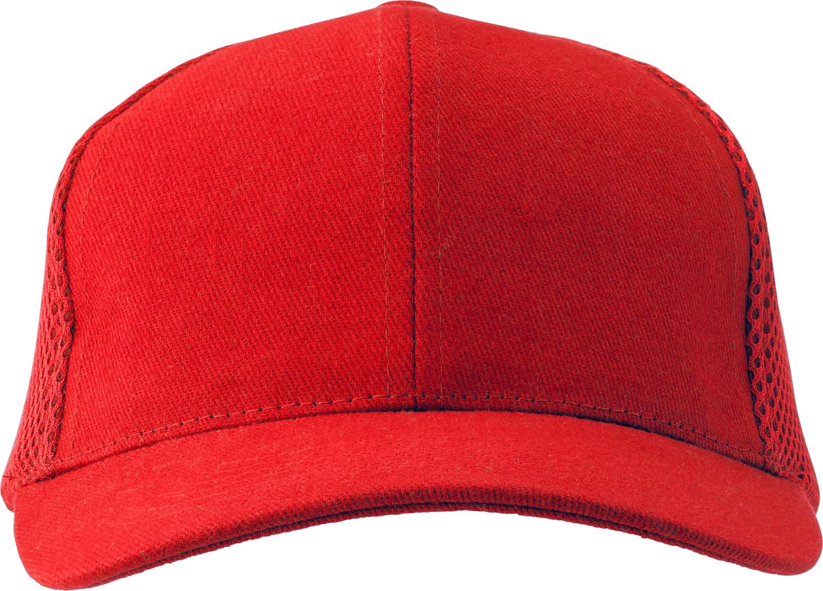 100% cotton twill cap - Red