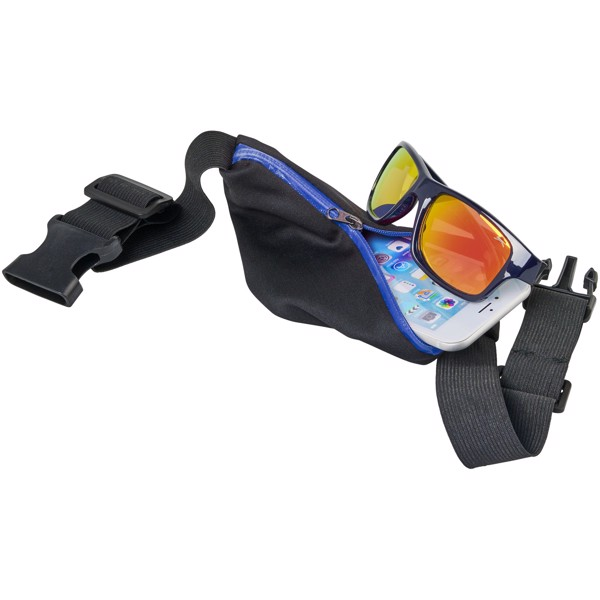 Nicolas flexible sports waist bag - Royal blue