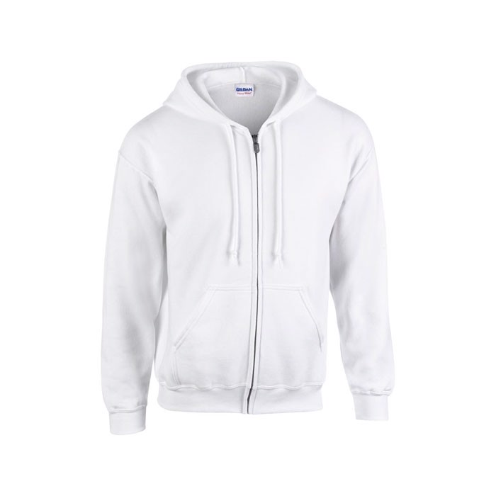 Férfi pulóver 255/270 g/m2 Full Zip Hooded Sweat 18600 - White / S