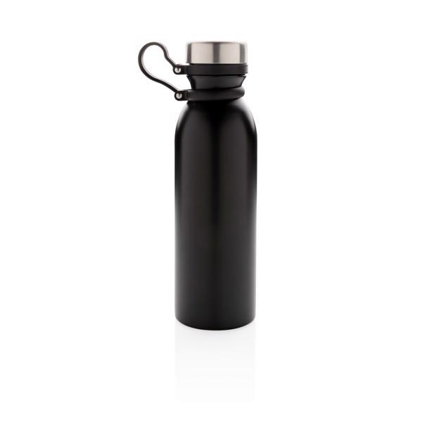 Réz- és vákuumszigetelt palack hurokkal - Fekete