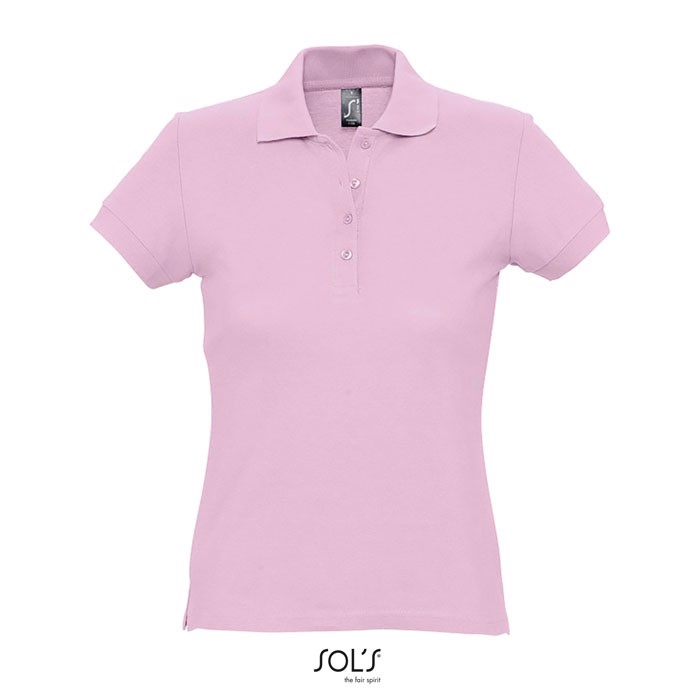 PASSION POLO MUJER 170g - rosa / S