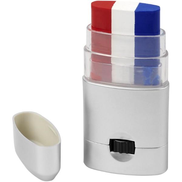 Velox barva na tělo - Červená s efektem námrazy / Bílá / Modrá