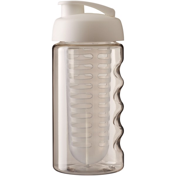 Sportovní láhev s infuzérem avyklápěcím víčkem H2O Bop® 500 ml - Transparent / White Solid