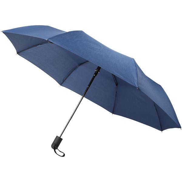 "Gisele 21"" heathered auto open umbrella - Navy"