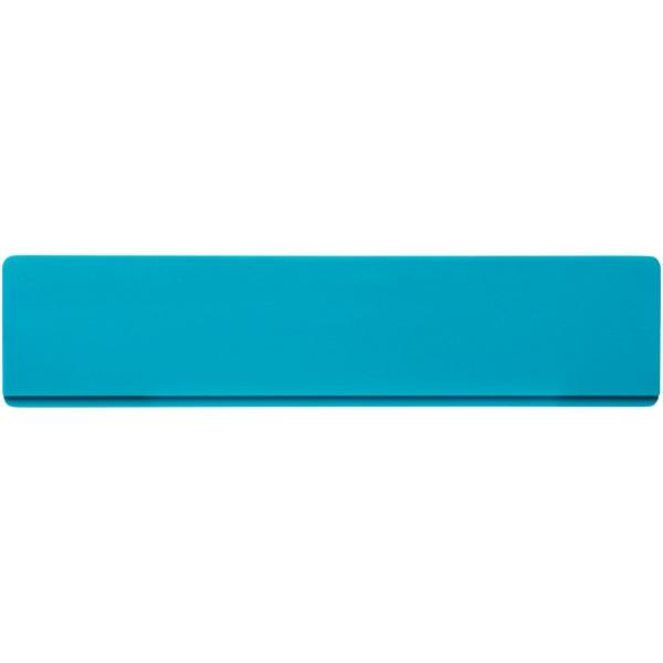 Renzo 15 cm plastic ruler - Aqua