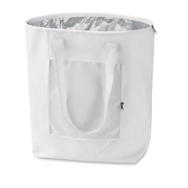 Foldable cooler shopping bag Plicool - White