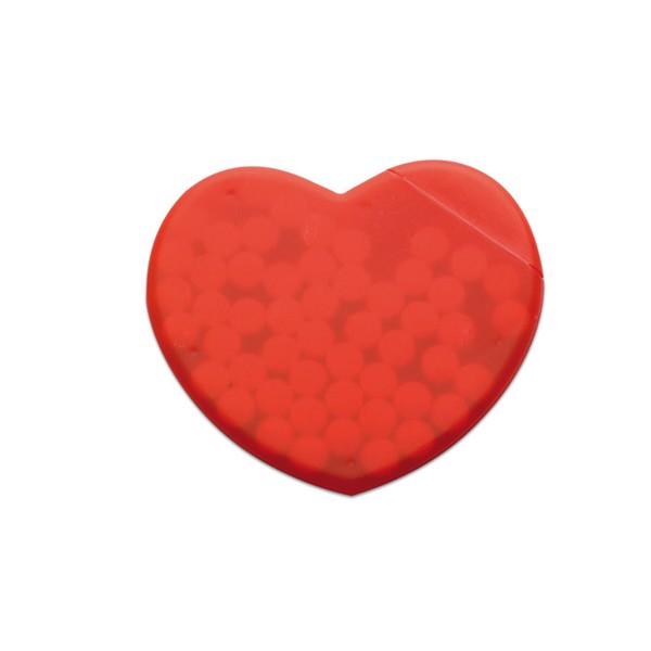 Škatlica v obliki srca z mint bonboni Coramint
