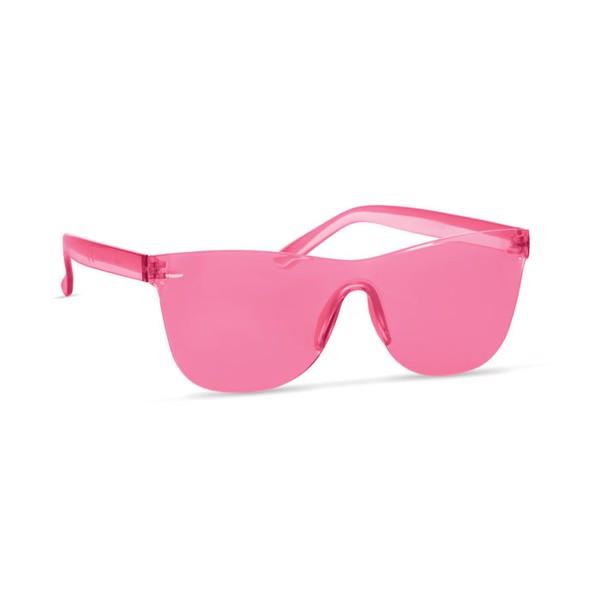 Rahmenlose Sonnenbrille Cos - transparent rot