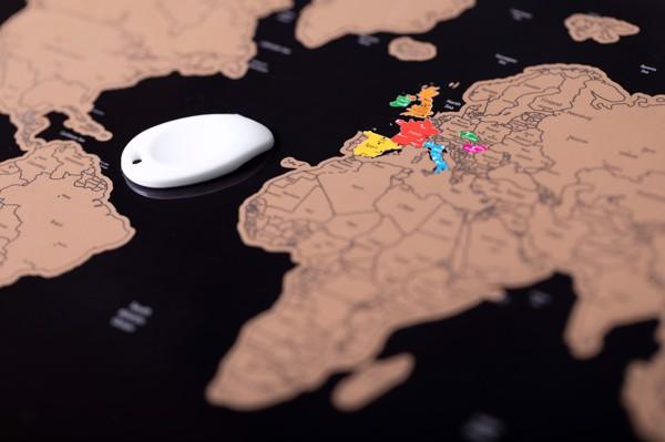 Stírací Mapa Palsy - Přírodní
