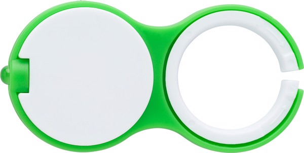 Plastic key holder with one LED light. - Lime
