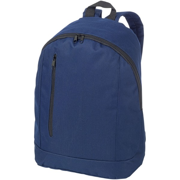 Boulder vertical zipper backpack - Navy