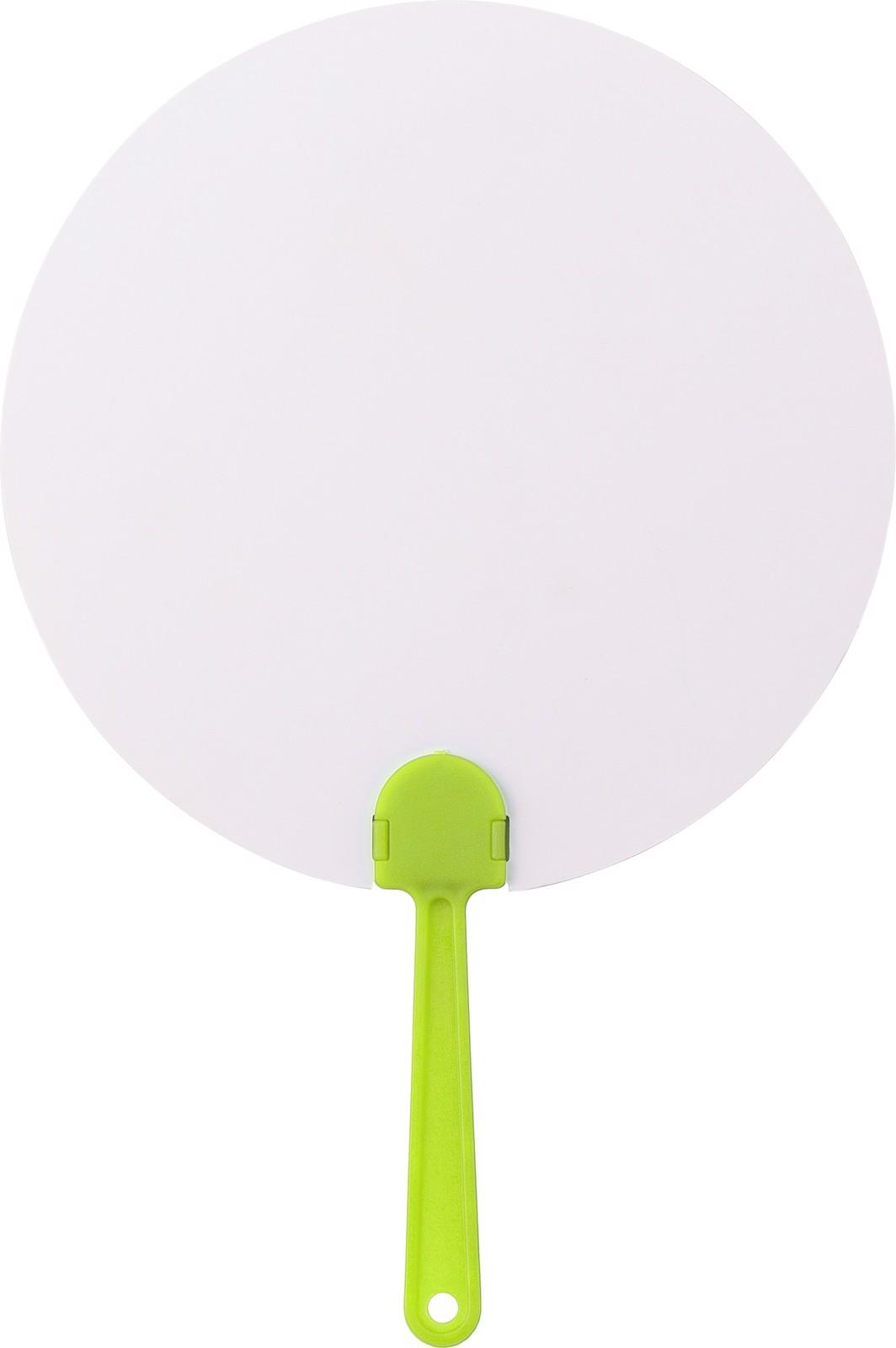 Paper hand fan - Lime