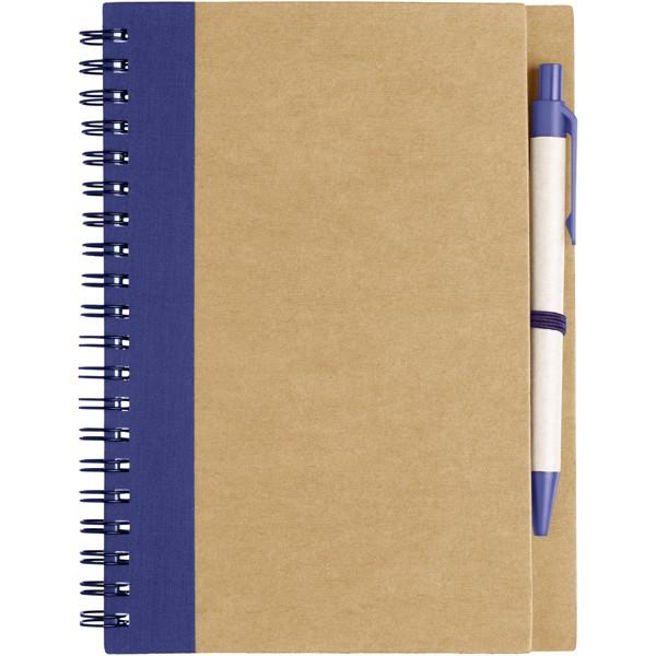Zápisník s perem Priestly z recyklovaného papíru - Přírodní / Navy