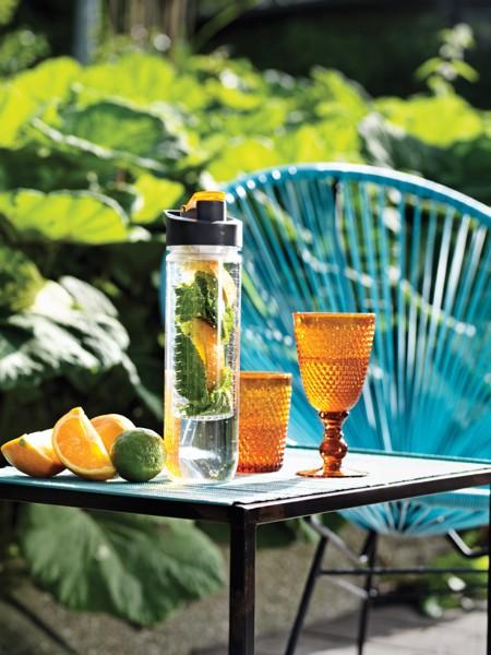 Vizespalack gyümölcstartó egységgel - Narancs