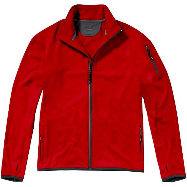 Bunda Mani z materiálu power fleece se zipem v celé délce - Červená s efektem námrazy / XL