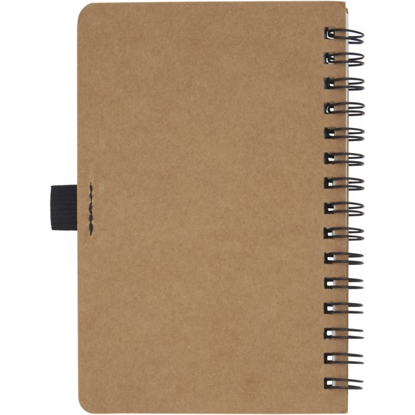 Cobble A6 wire-o recycled cardboard notebook with stone paper