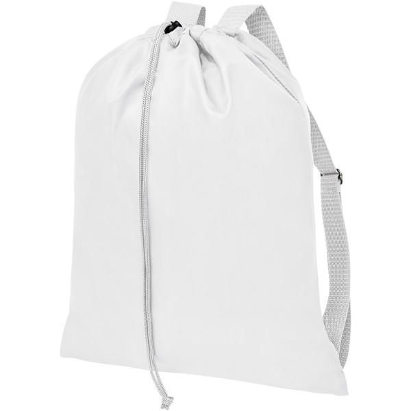 Oriole drawstring backpack with straps - White