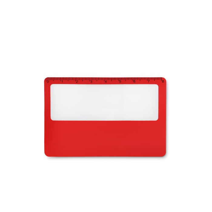 Credit card magnifier Lupa - Red