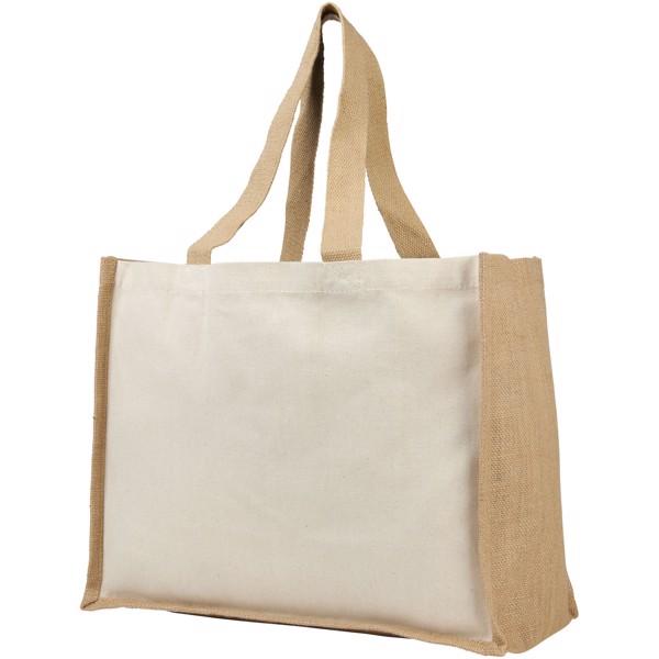Varai 320 g/m² canvas and jute shopping tote bag