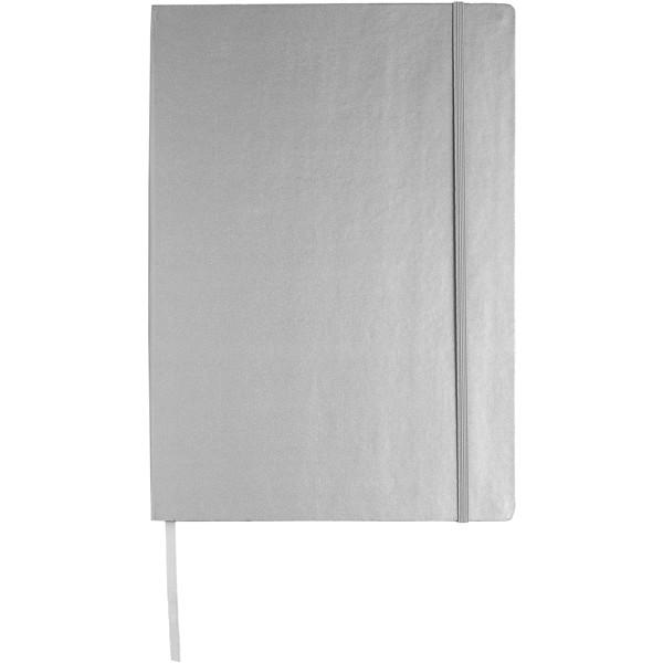 Executive A4 hard cover notebook - Silver