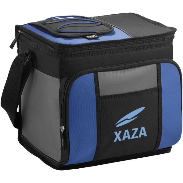 Chladicí taška Easy-access na 24 plechovek - Světle modrá / Černá / Šedá