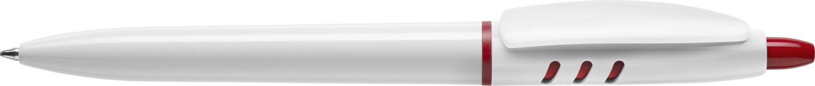 Stilolinea S30 plastic ballpen - White / Red