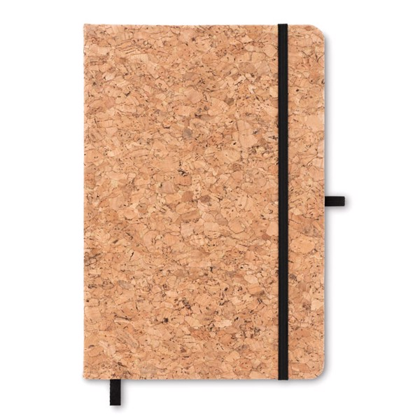 A5 notebook with cork cover Suber - Black
