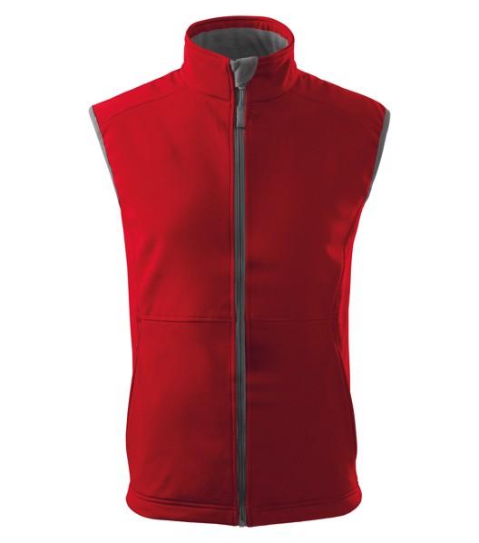 Softshellová vesta pánská Malfini Vision - Červená / 2XL