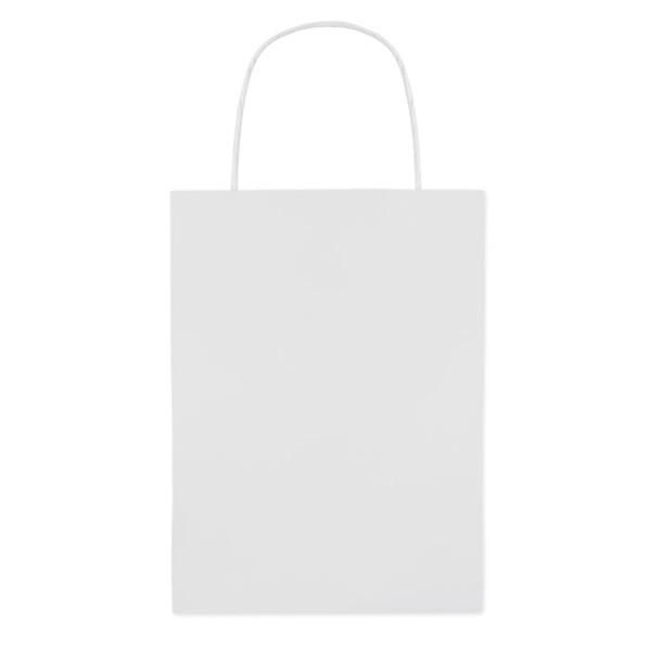 Paprierowa torebka ozdobna mał Paper Small - biały