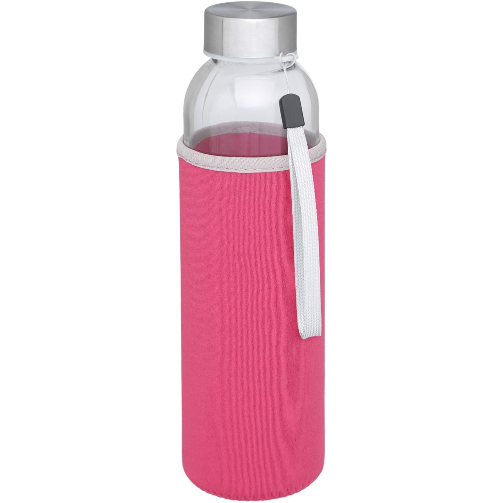 Bodhi 500ml skleněná sportovní láhev - Růžová