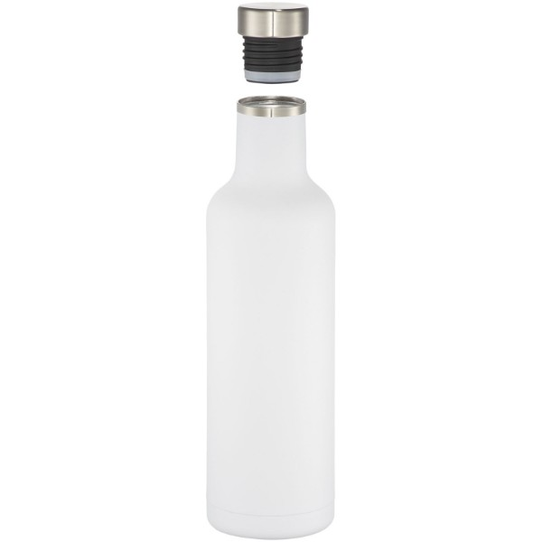Pinto 750 ml copper vacuum insulated bottle - White