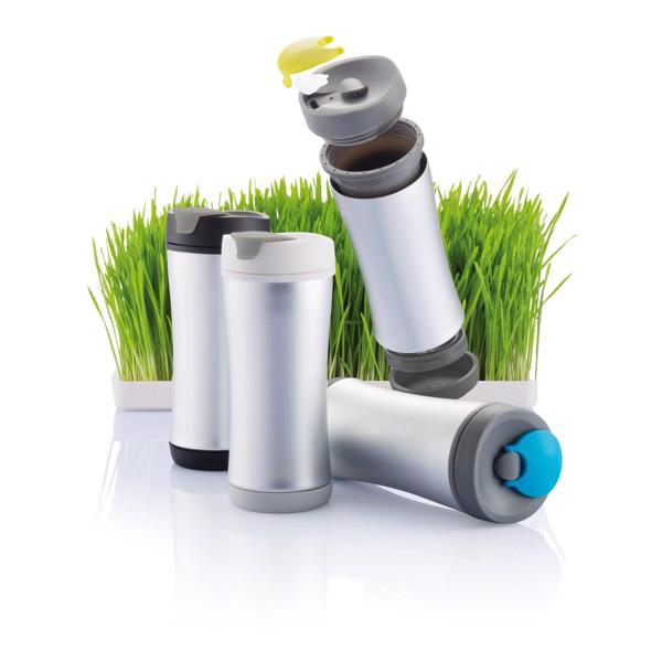 Ekologický hrnek Boom - Zelená / Antracitová