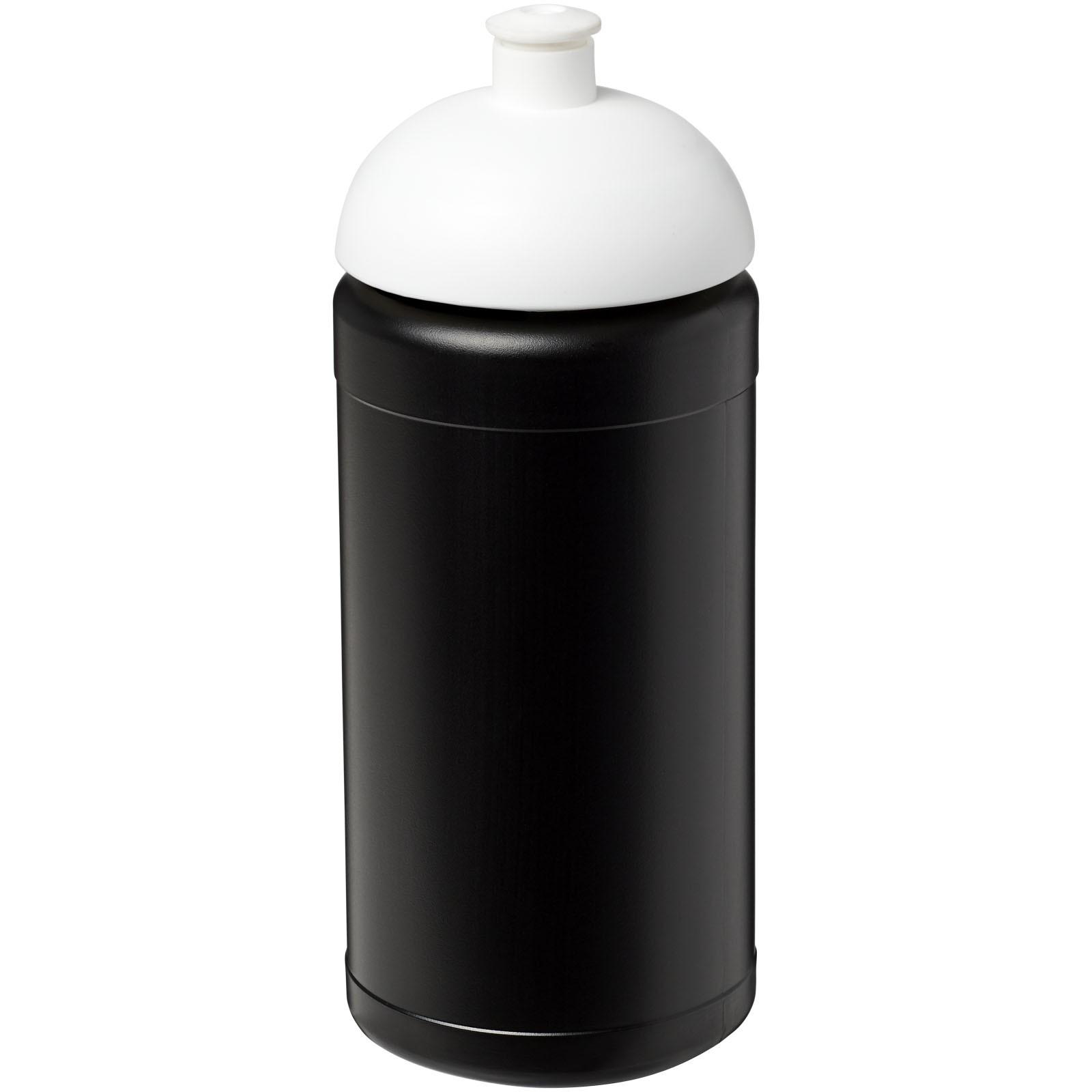 Sportovní láhev s kupolovitým víčkem Baseline® Plus 500 ml - Černá / Bílá