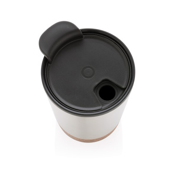 Cork coffee tumbler - Silver