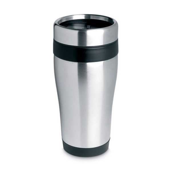 Stainless steel travel cup Tram - Black