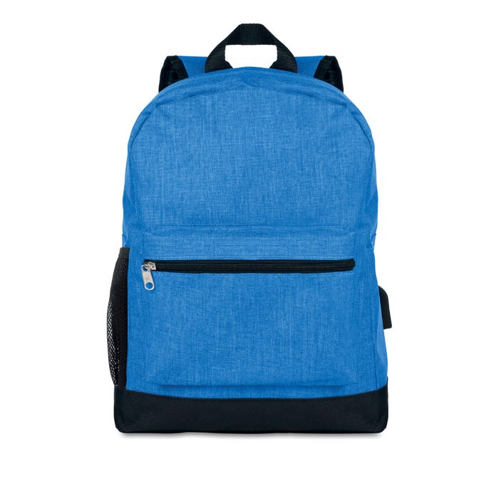 600D 2 tone polyester backpack Bapal Tone - Royal Blue