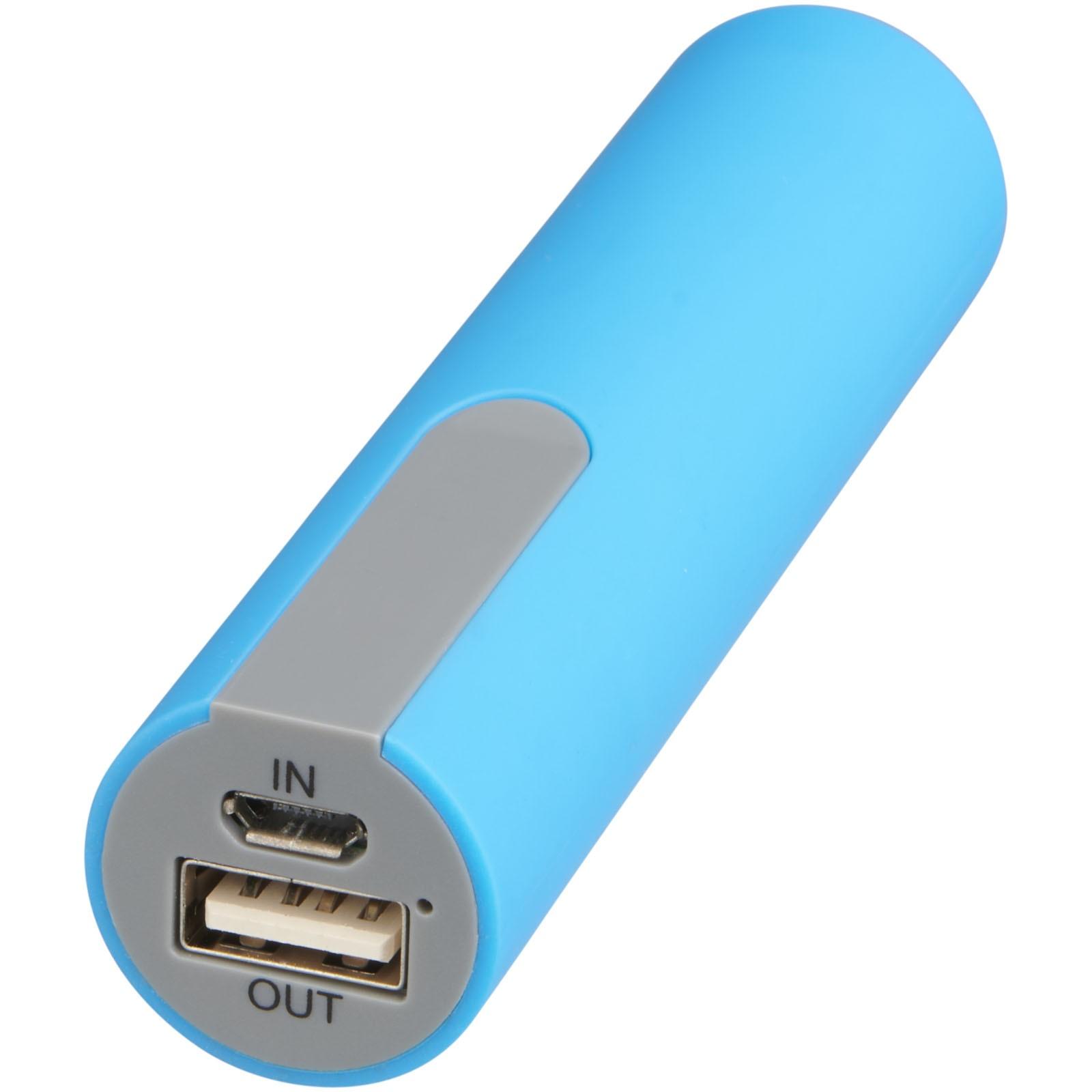 Pogumovaná powerbanka - 2 200 MAH - Světle modrá