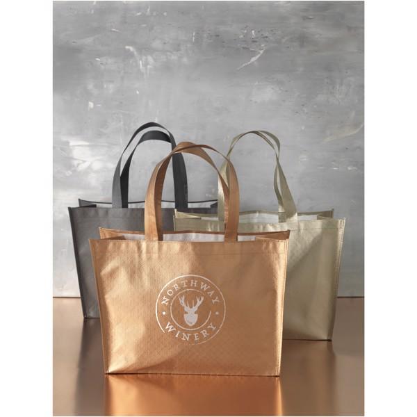Alloy laminated non-woven shopping tote bag - Nickel
