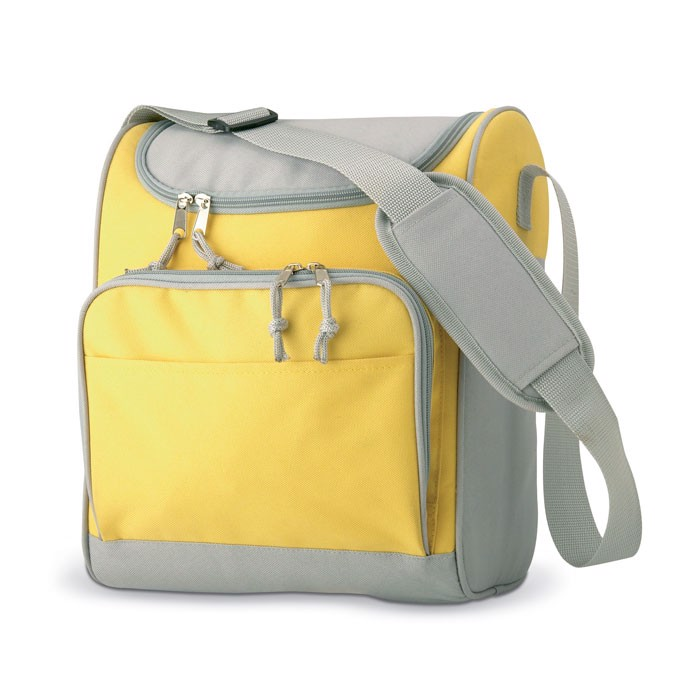 Cooler bag with front pocket Zipper - Yellow