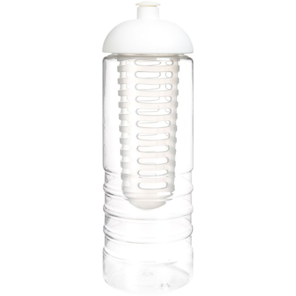 H2O Treble 750 ml dome lid bottle & infuser - Transparent / White