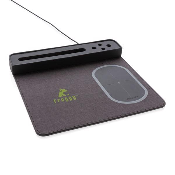 Air egérpad 5W-os vezeték nélküli töltéssel és USB-vel