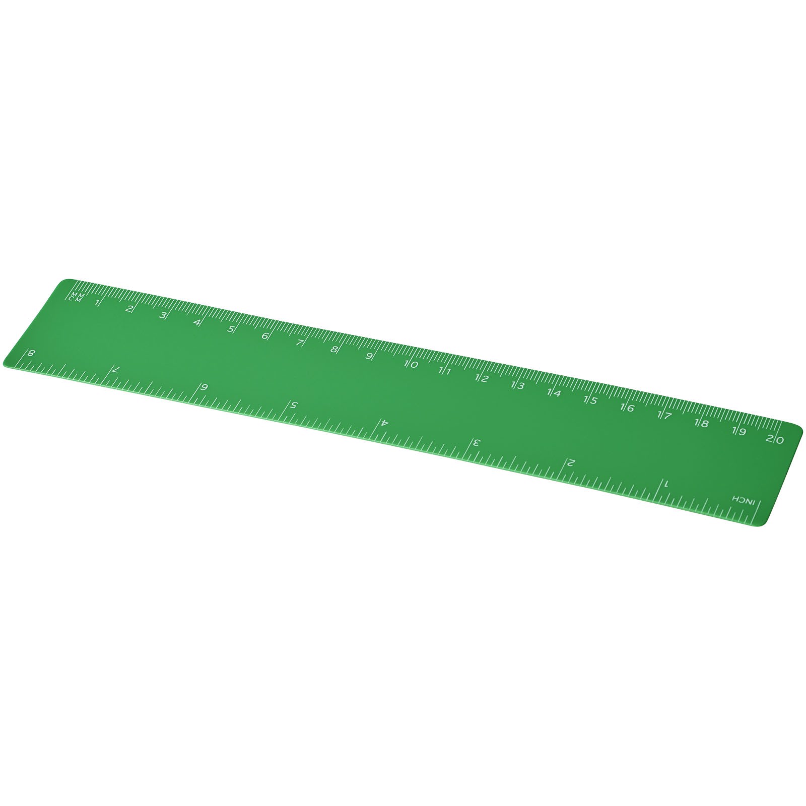 Rothko 20 cm plastic ruler - Green